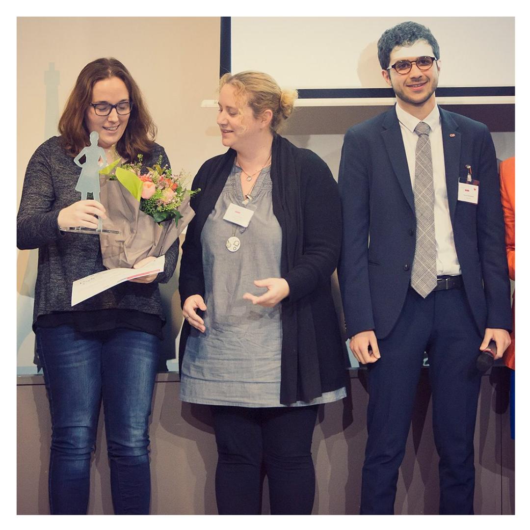 Emmanuelle Burel remporte le trophée Innovation de Femme en EA 2018 2