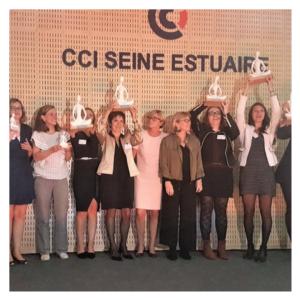 Emmanuelle récompensée Femme de l'Economie Innovation Sociale en Normandie 1