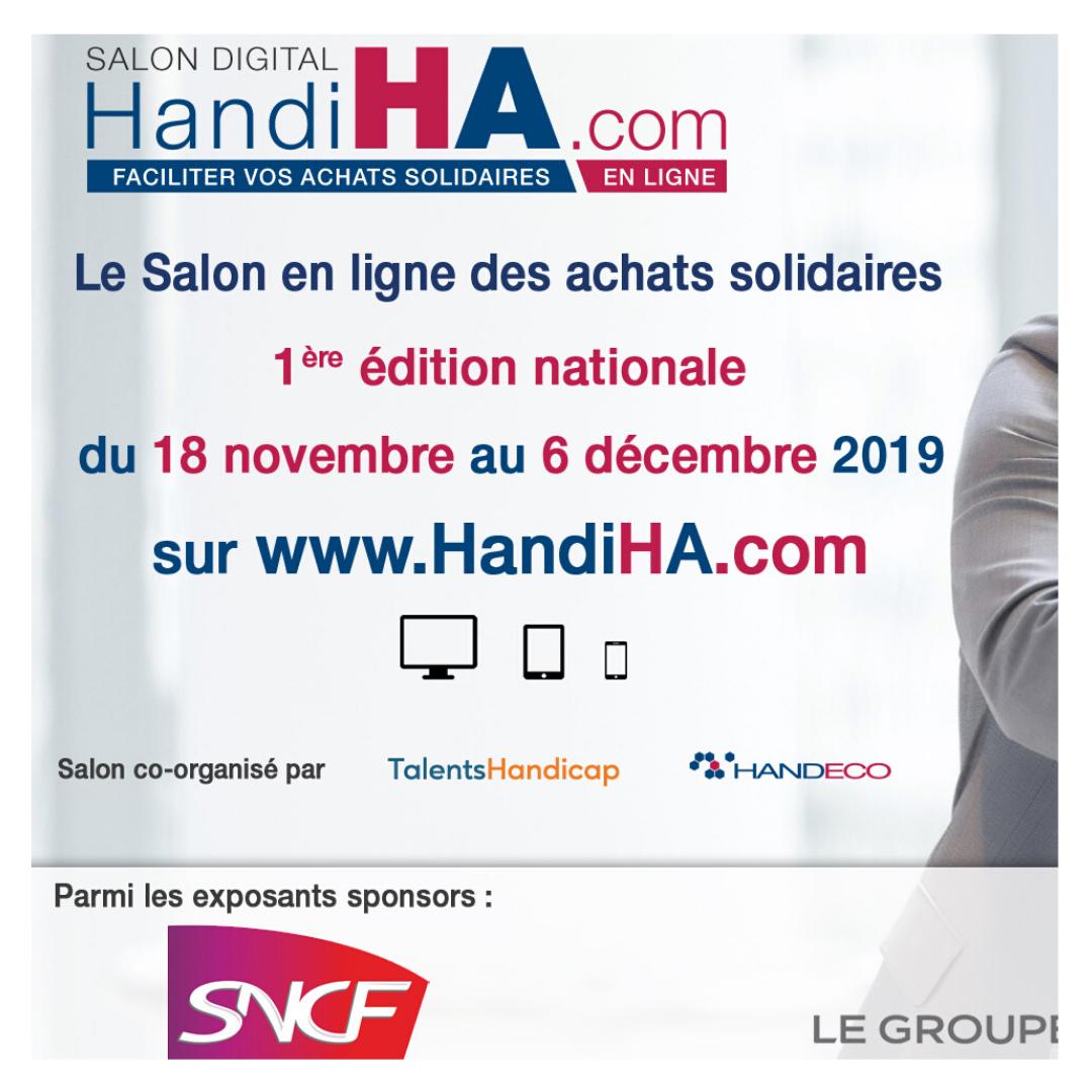 Bbird participe au salon national HandiHA.com, 1er salon en ligne des achats solidaires du 18 novembre au 6 décembre 2019 1