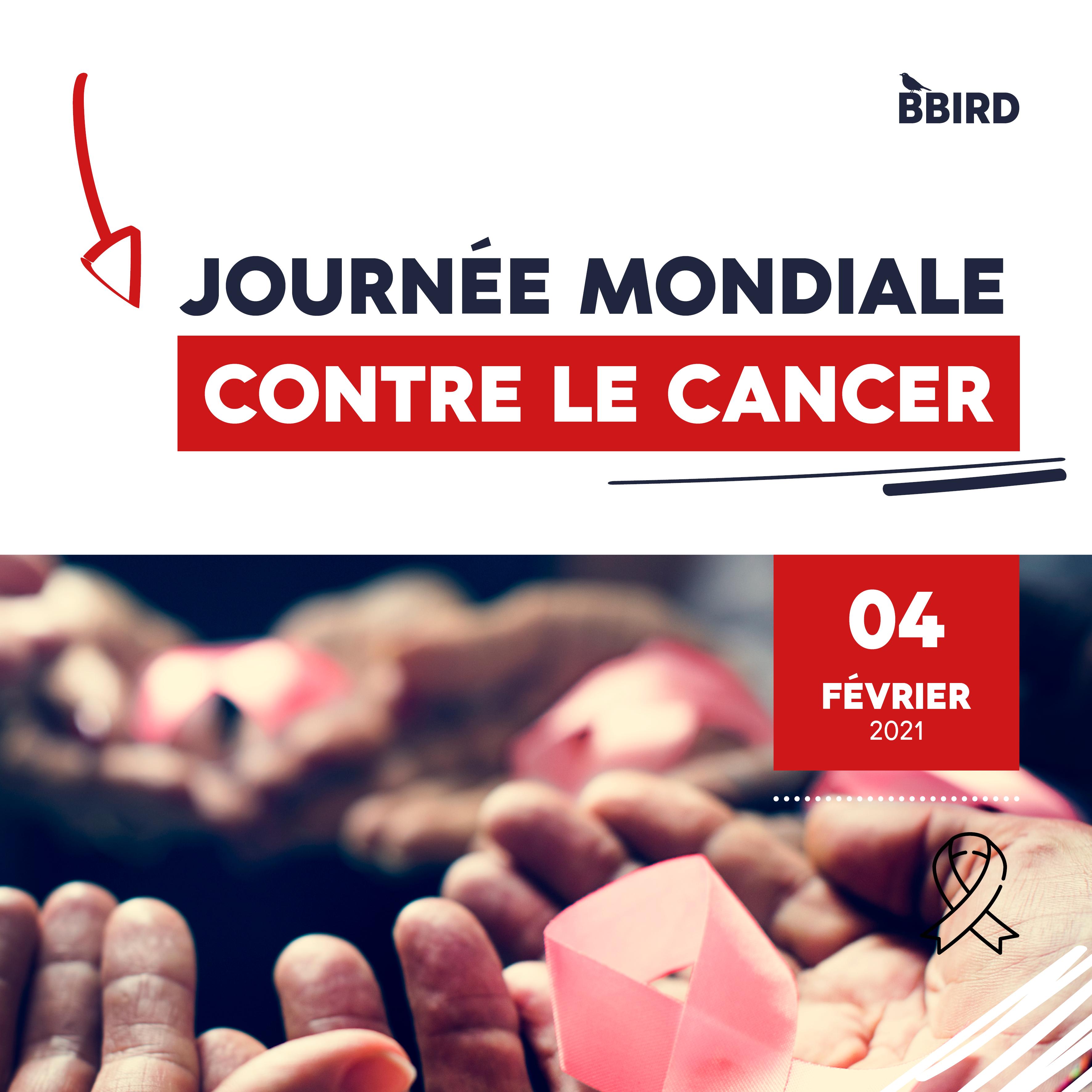 visuel de sensibilisation à la journée mondiale contre le cancer