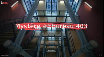 Mystère au bureau 403, un jeu d'enquête 100% numérique sur le handicap 1