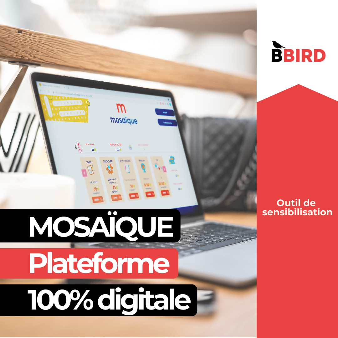 Mosaïque, plateforme 100% digitale